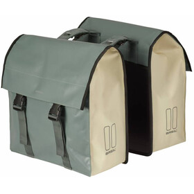 Basil Urban Load Luggage Carrier Double Bag 48-53l, chinois green/white